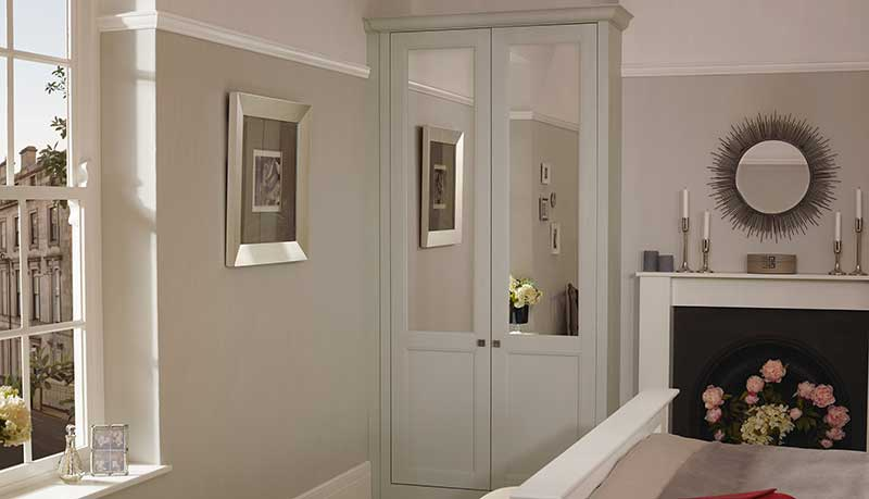 Grey shaker beaded bedroom wardrobes