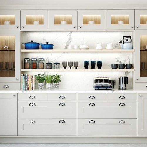 Cream shaker style dresser