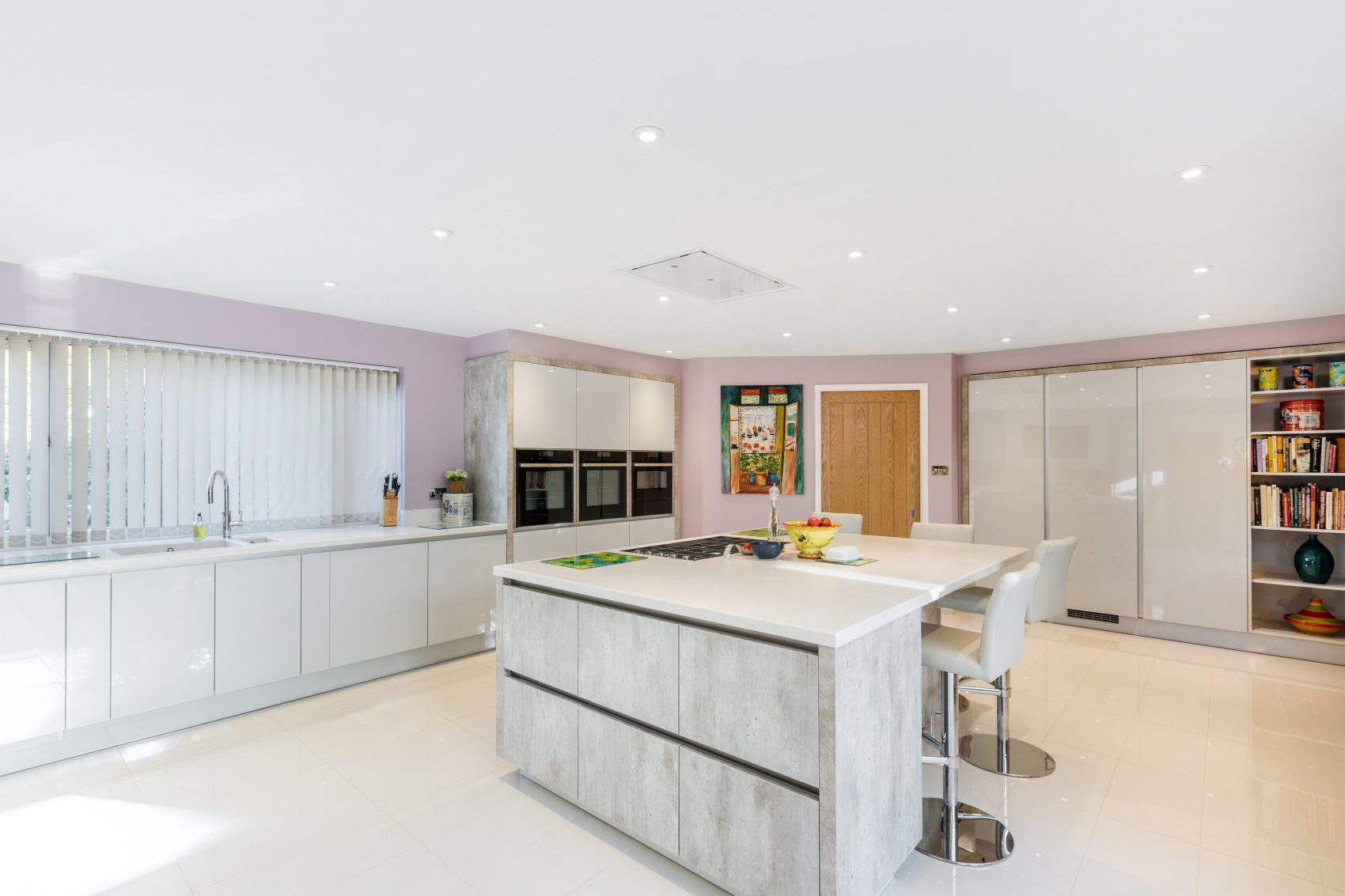 large contemporary gloss kitchen