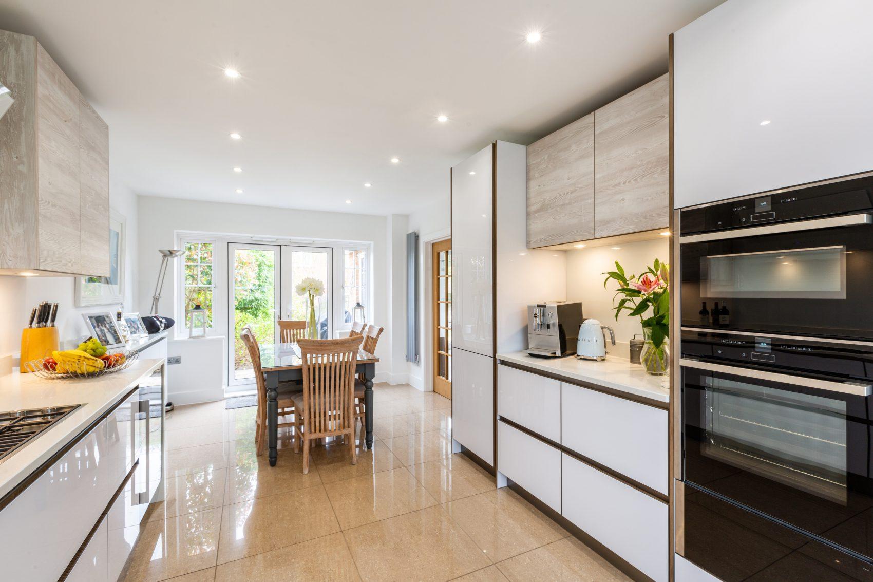 contemporary handleless kitchen design