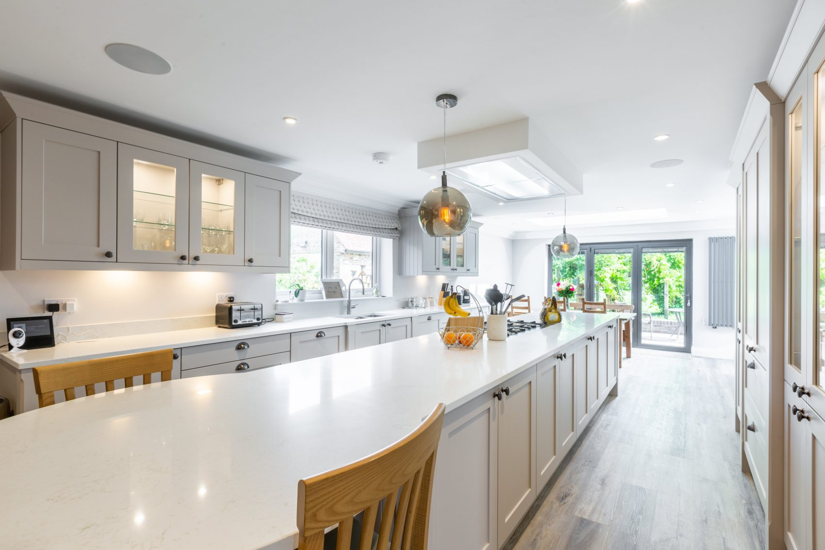 Classic shaker kitchen with large kitchen island