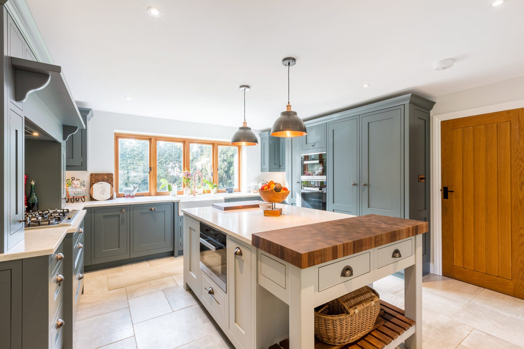 Grey shaker kitchen and utility room design