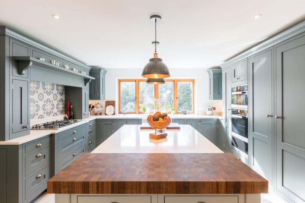 Big kitchen design - Grey in-frame shaker kitchen
