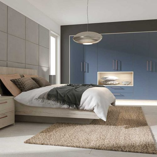 Acrylic Lava Glass and Natural Halifax Oak bedroom design