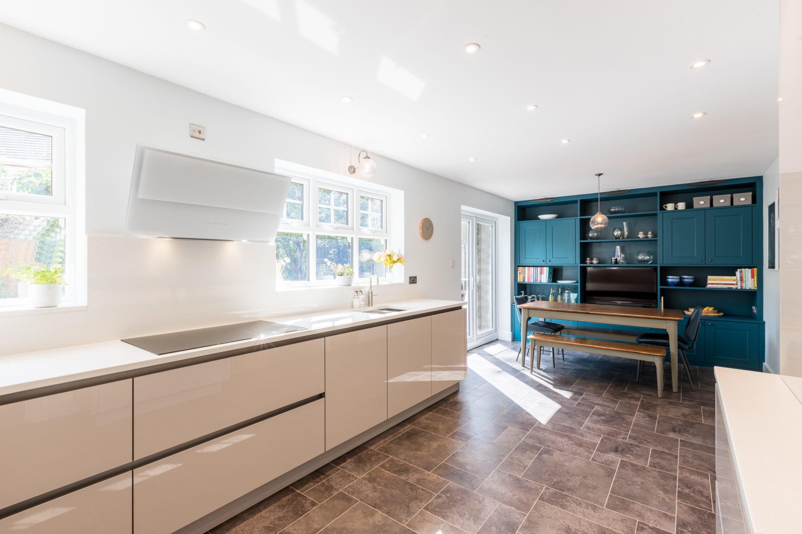 Cashmere acrylic gloss kitchen
