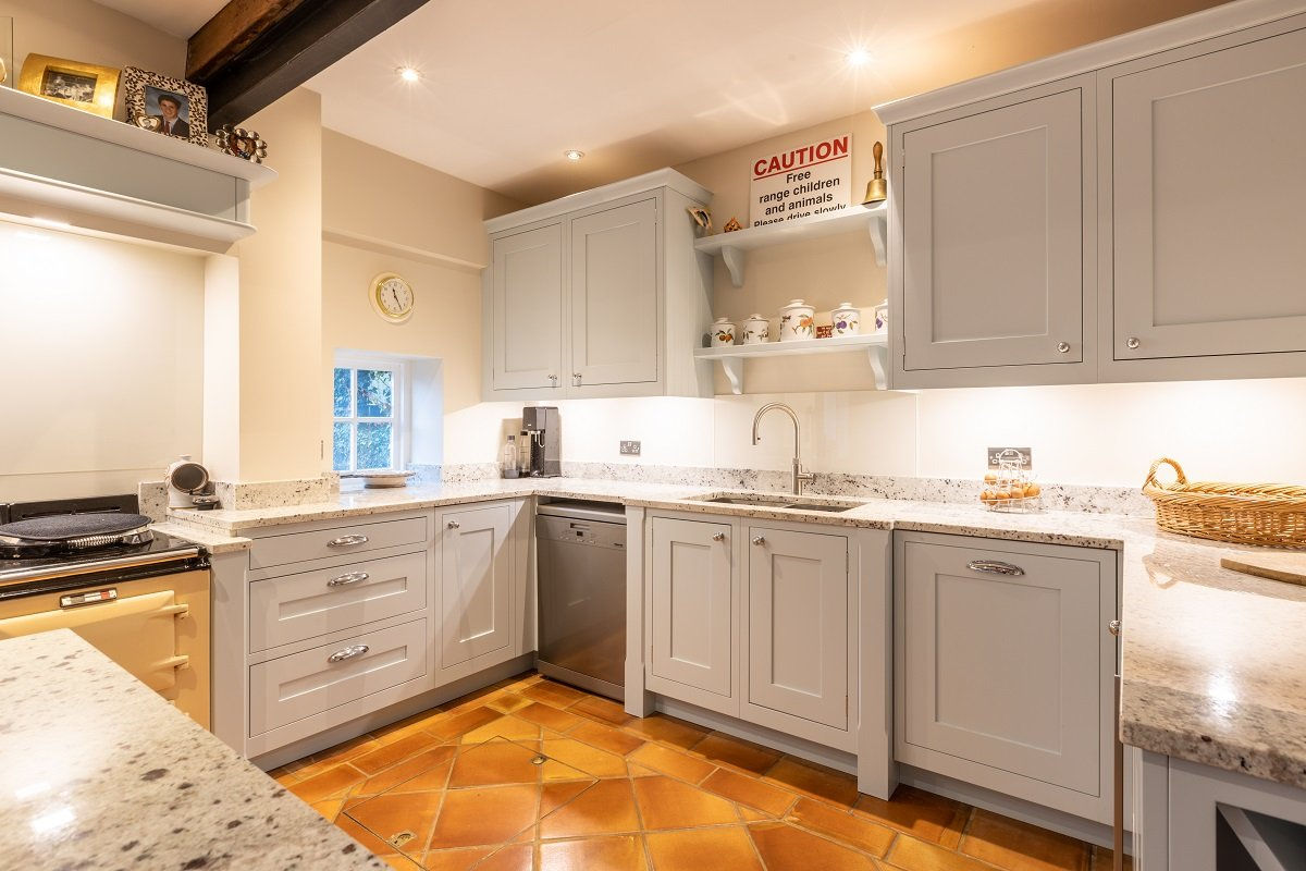 Shaker kitchen design for converted watermill