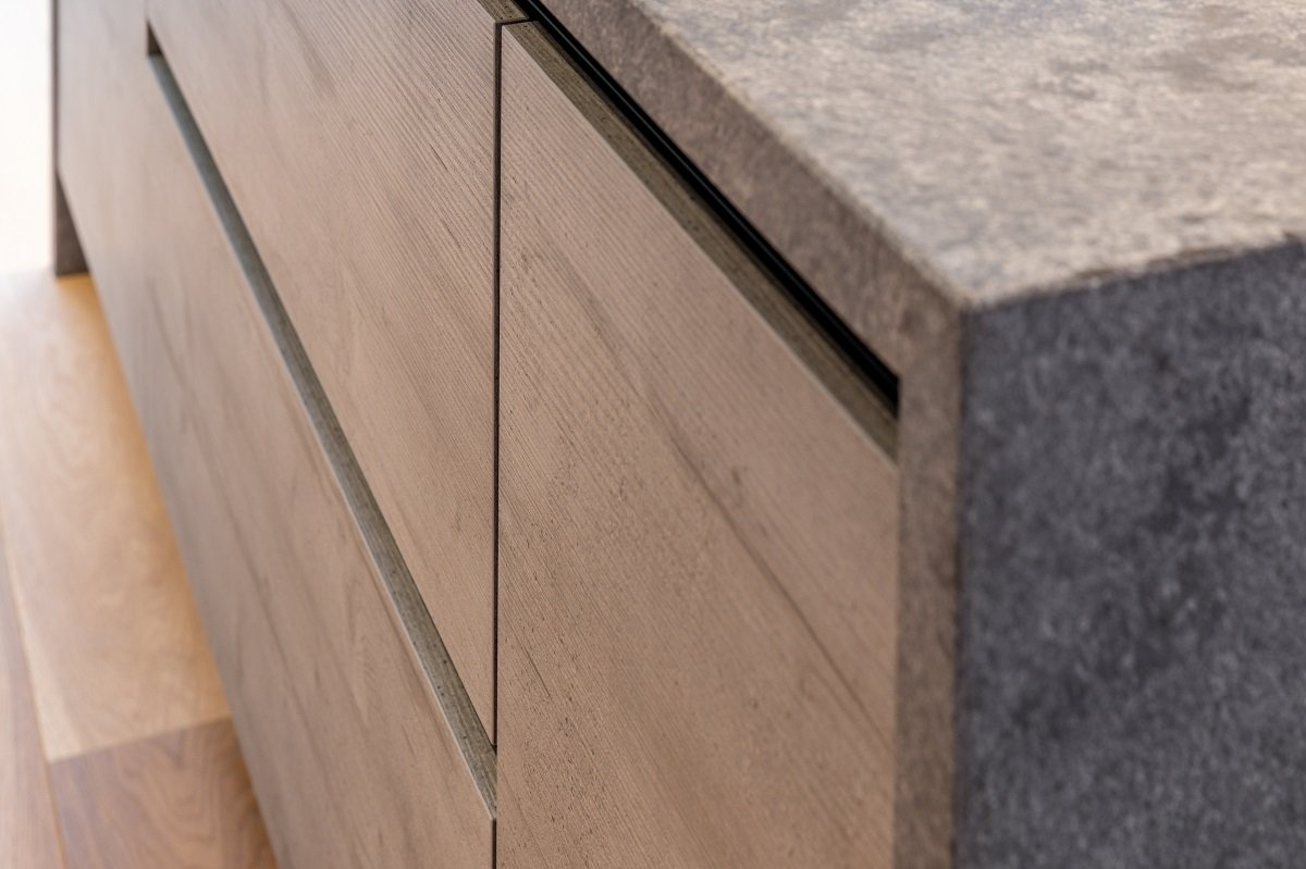 concrete effect kitchen worktop
