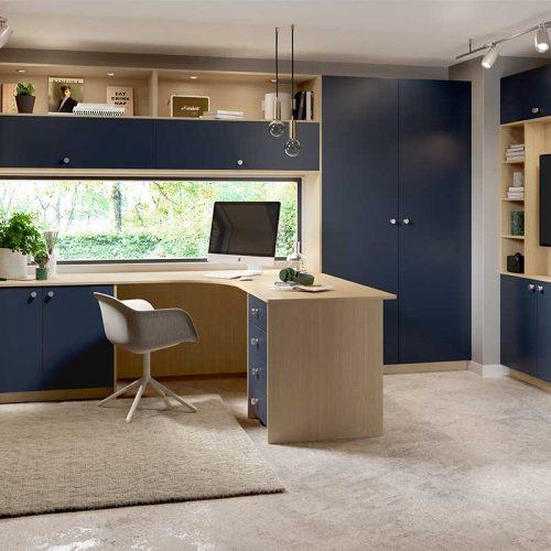 Perfect Matt Indigo and Kaiserberg Oak Designer Home Office