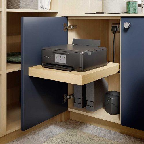 Perfect Matt Indigo and Kaiserberg Oak Cameo Printer Cabinet