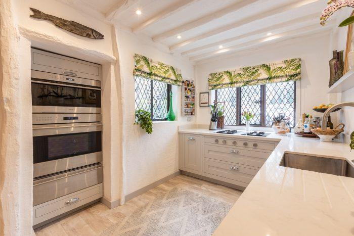 light grey in frame shaker kitchen